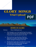 Glory Songbook Trial Upload