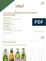 Abi South Africa Quarterly