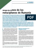 Migraciones de Los Roma Gitanos Rumanos