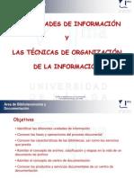 Tutorial sobre unidades de información y técnicas de organización de la información.