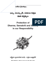 Responsibility as Indian - Protection of Dharma Samskriti and Society