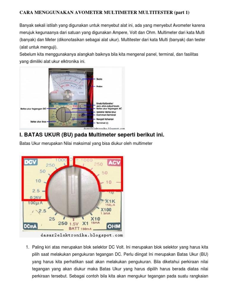Cara menggunakan avometer multi meter multi tester ccuart Choice Image