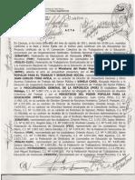 VI Convención Colectiva de los Trabajadores de la Educación (Acta de cierre 05/08/2011)