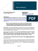 AY Press Release Mid 11 Canada US Office Mkt Aug4 11 Final