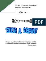 proyecto escuela 2011
