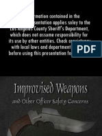 Improvised/Disguised Weapons Guide