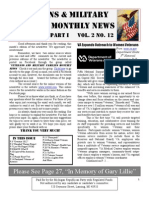 Veterans & Military Families Monthly News-August 2011 Part I