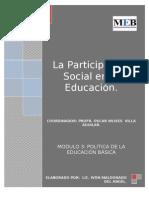 La Participación Social en la Educación Preescolar Ensayo de Politica Educativa