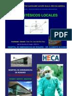 Anestesia Local .Anestesicos.tipos y Tecnicas. Prof. Dr. Luis Del Rio Diez.