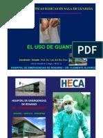 Guantes en Cirugia - Tipos - Tecnica de Colocacion - Indicaciones . Prof. Dr. Luis Del Rio Diez