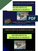 Instrumental Basico Para Practicas Quirurgicas en La Guardia. Prof. Dr. Luis Del Rio Diez