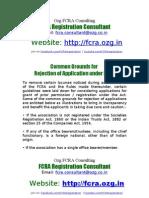fcra-registration.com - Reasons for Rejection of FCRA Application - Email