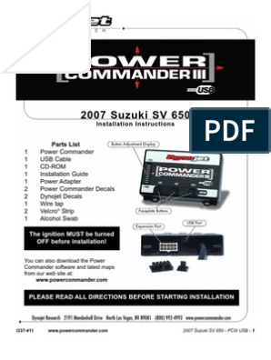 Power Commander III USB Install Guide   Electrical Connector