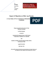 Impact of Migration on Older Age Parents