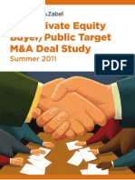 SRZ 2011 Private Equity Buyer Public Target MA Deal Study