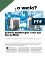 INTERRUPTOR SF6 ó Vacío