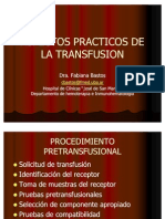 Aspectos Practicos de La Transfusion