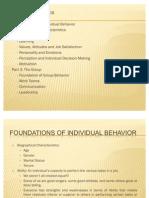 Foundations of Individual Behavior - Chap2