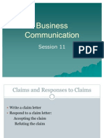 BC Session 11 Claims and Responses Aug 2011