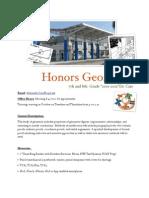 Honors Geometry Syllabus