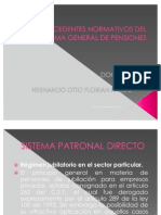 Antecedentes Normativos Del Sistema General de Pensiones