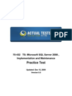 70-432 MCTS SQL 2008