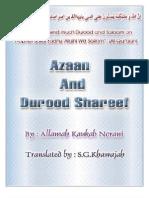 ADHAN AND DUROOD SHAREEF