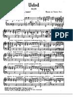 Usted - Bolero - Piano