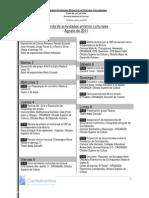 Agenda de actividades artístico-culturales Agosto de 2011