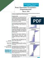 Panorama Económico Departamental Marzo 2011