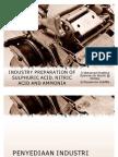Penyediaan Industri Asid Sulfurik, Ammonia Dan Asid Nitrik