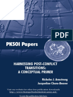 """Harnessing Post-Conflict """"Transitions"""""""