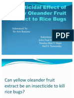 Insecticidal Effect of Yellow Oleander Fruit Extract To