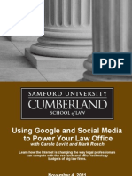 Using Google and Social Media to Power Your Law Office Alabama MCLE Cumberland Law School 2011