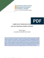 Vergara 2007 Capital social e instituciones locales para Gobernanza sistémica territorial