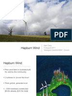 Hepburn Wind (community owned wind farm) presentation