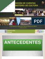 Rendición de cuentas del Ministerio de Cultura - Ecuador 2011