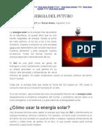 La Energia Del Futuro por Oscar Araos