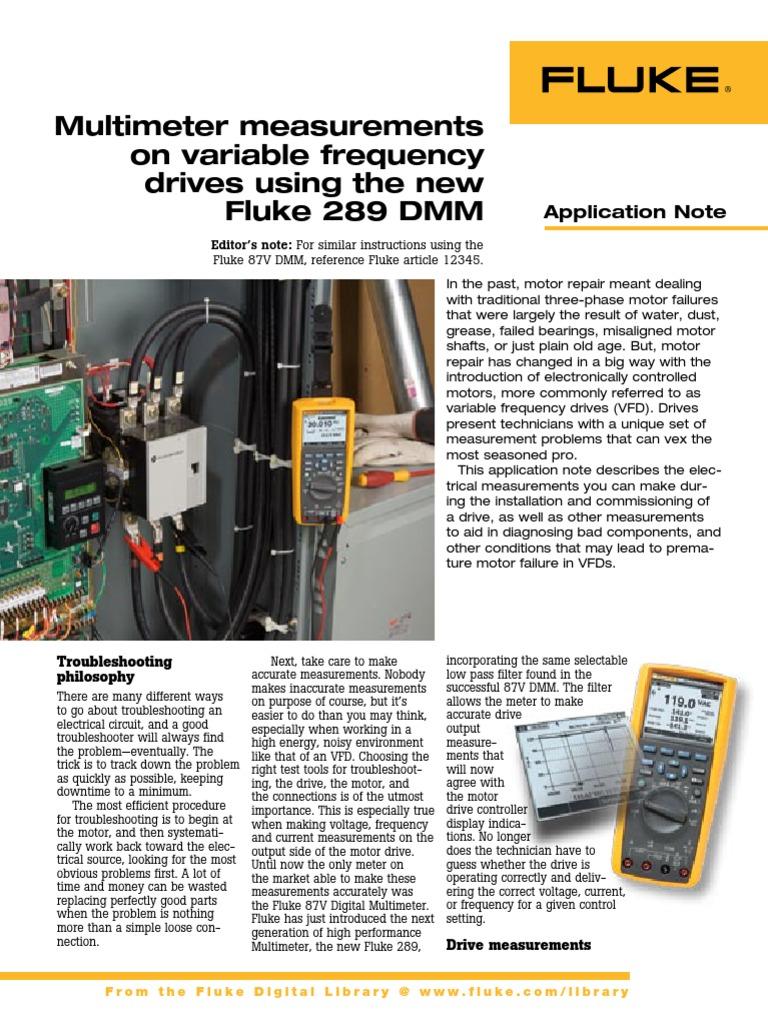 Aplicacion Variadores de Velocidad Fluke 289 | Amplifier