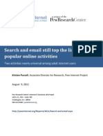 PIP Search and Email Internet Survery May 2011
