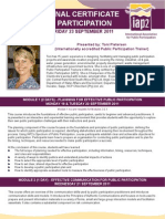 IAP2 SA Training Flyer Sept2011