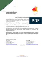 2011_08_10 - PEL 218 Contingent Resource Booking