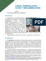 Capitalismo, imperialismo, globalización y neoliberalismo
