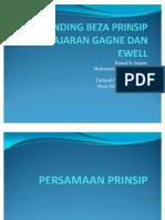 Banding Beza Prinsip Pembelajaran Gagne Dan Kamal