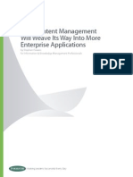 web content management will weave its way into more enterprise applications