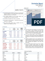 Derivatives Report 10th August 2011