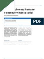 Desenvolvimento Humano e Desenvolvimento Social