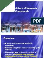9 Nomenclature of Inorganic Compounds