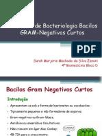 Seminário de Bacteriologia Bacilos GRAM-Negativos Curtos