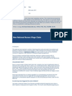 Best Practice News Alert No 179 - New National Nurses Wage Claim
